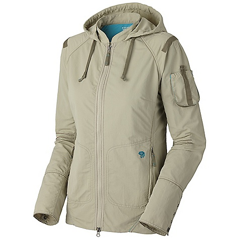 Free Shipping. Mountain Hardwear Women's Urbanite Travel Jacket DECENT FEATURES of the Mountain Hardwear Women's Urbanite Travel Jacket Stowable hood Waist cinch for quick fit adjustments Cape vent regulates temperature Four functional cargo pockets DWR finish repels water The SPECS Average Weight: 12 oz / 342 g Center Back Length: 26in. / 66 cm Body: Urban retreating ripstop (100% polyester) - $109.95