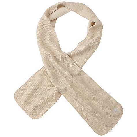 Mountain Hardwear Women's Sarafin Scarf DECENT FEATURES of the Mountain Hardwear Women's Sarafin Scarf Reversible wool-polyester-blend fabric features a heathered melange-knit pattern on one side and a rib-knit on the other The SPECS Average Weight: 2 oz / 63 g Wide: 9in. Body: Dihedral Jersey (49% polyester, 39% wool, 12% nylon) - $29.95