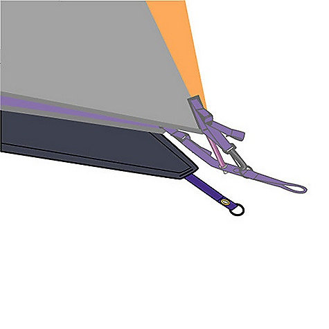 Camp and Hike Free Shipping. Mountain Hardwear EV 2 Footprint DECENT FEATURES of the Mountain Hardwear EV 2 Footprint Grommet tabs attach to tent pole ends Imported The SPECS Weight: 11 oz / 320 g Body: 70D Nylon Taffeta 3000mm PE - $54.95