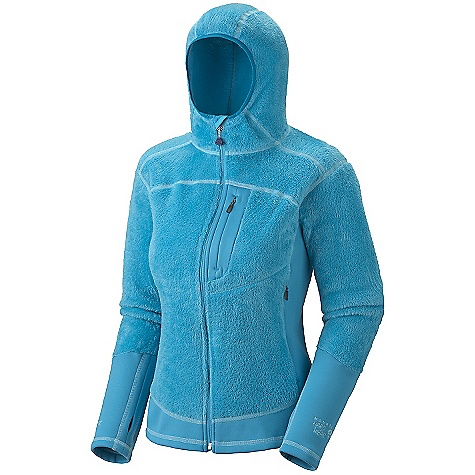 On Sale. Free Shipping. Mountain Hardwear Women's Monkey Woman Lite Jacket DECENT FEATURES of the Mountain Hardwear Women's Monkey Woman Lite Jacket Micro-Climate Zoning construction for built in warmth, breathability and stretch Extremely warm, extremely soft Stretch hem and cuffs seal in warmth Close fitting hood, designed to fit under helmet Pockets set high and out of the way from harness and pack straps Integrated thumb loops for warmth The SPECS Average Weight: 15 oz / 425 g Center Back Length: 24.5in. / 62 cm Fabric: Body: Polartec ThermalPro Monkey Phur Lite (97% polyester, 3% elastane), Panel: Polartec Power Stretch (88% polyester, 12% elastane) - $89.99
