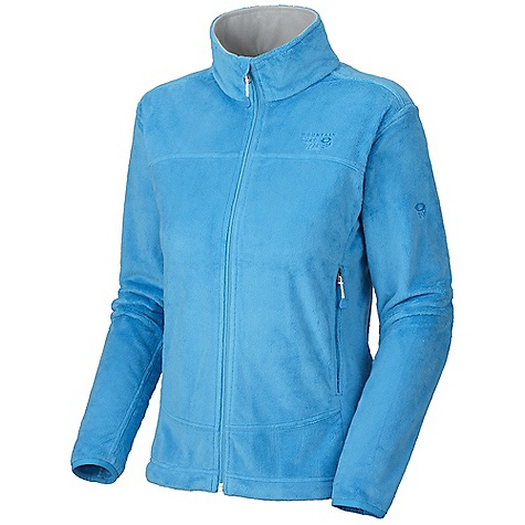 On Sale. Free Shipping. Mountain Hardwear Women's Pyxis Jacket DECENT FEATURES of the Mountain Hardwear Women's Pyxis Jacket Soft, warm and luscious fleece Zip handwarmer pockets Dual hem drawcords for quick fit adjustments Fleece-lined chin guard prevents zipper chafe The SPECS Average Weight: 14 oz / 383 g Center Back Length: 25.5in. / 65 cm Body: Voluptuous Velboa 100% polyester - $75.99