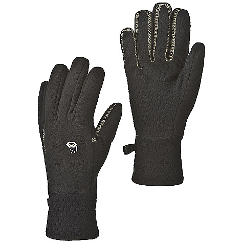 Mountain Hardwear Men's Orko Glove DECENT FEATURES of the Mountain Hardwear Men's Orko Glove Flat-lock construction for a seamless fit Seamless finger tips for increased sensitivity Wear alone or use as a liner Imported The SPECS Average Weight: 1.8 oz / 50 g Body: 230-Weight Polyester Fleece (100% polyester) Palm: Hex Fleece 230 - $29.95