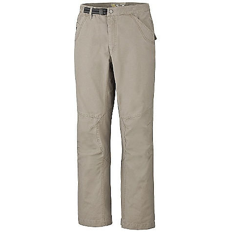 On Sale. Free Shipping. Mountain Hardwear Men's Cordoba Pant DECENT FEATURES of the Mountain Hardwear Men's Cordoba Pant Integrated webbing belt with buckle closure for easy fit adjustments Full-length inseam gusset and articulated knees for mobility Lots of pockets for storage UPF 50 sun protection Imported The SPECS Apparel Fit: Relaxed Average Weight: 1 lb 6 oz / 636 g Inseam: 30, 32, 34in. / 76, 81, 86 cm Body: Basalting Canvas (100% cotton) - $43.99