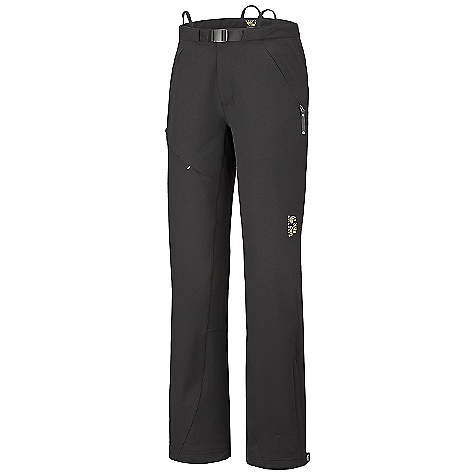 Free Shipping. Mountain Hardwear Women's Daphnia Pant DECENT FEATURES of the Mountain Hardwear Women's Daphnia Pant Micro-Chamois-lined waist with an adjustable webbing belt for a comfortable, chafe-free fit Suspender loops at waist Zippered hand pockets Ankle zips with snap for fit adjustments The SPECS Average Weight: 1 lb 2 oz / 504 g Inseam: 30, 32, 34in. / 76, 81, 86 cm Body: TufStretch Thermal 58% nylon, 31% polyester, 11% elastane - $159.95