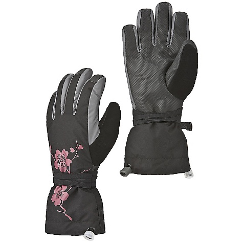 On Sale. Mountain Hardwear Girls' Sakura Glove DECENT FEATURES of the Mountain Hardwear Girls' Sakura Glove Designed to fit a girl's smaller hand proportions Fully waterproof and breathable Durable synthetic palms for grip Brushed polyester fleece lining adds warmth and wicks moisture Thermic Micro insulation at back of hand Tough Taslan Nylon shell fabric for durability Articulated cut for dexterity Full coverage gauntlet with Simple Cinch one-handed closures for quick adjustments Chamois nose wipe on back of thumb The SPECS Average Weight: 5 oz / 128 g Fabric: Body: Nylon Taslan, Lining: Brushed Tricot (100% polyester), Insulation: Thermic Micro, Palm: Synthetic Grip Palm - $35.99