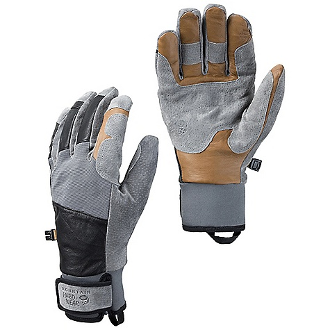 On Sale. Free Shipping. Mountain Hardwear Men's Pistolero Glove DECENT FEATURES of the Mountain Hardwear Men's Pistolero Glove OutDry Waterproof Technology extremely waterproof, totally windproof. The OutDry membrane is directly bonded to the glove's outer shell, eliminating the ability for wind and water to penetrate through the sewn seams of the shell, keeping hands warmer Water-resistant goatskin leather palm with pigskin reinforcements at the palm and finger Corded nylon at the back of hand provides stretch for a flexible fit Lined with Velboa Raschel on the back of the hand and brushed tricot on the palm for warmth and comfort Trim, articulated fit offers excellent grip, flexibility and finger sensitivity Short gauntlet with Velcro wrist closure for a secure fit Carabiner loop to clip and hang gloves Pull-on webbing loop at wrist Imported The SPECS Average Weight: 5.6 oz / 160 g Body: Water-resistant goatskin leather Laminate: OutDry Waterproof Technology Lining: Double Shot Velboa (100% polyester) Palm: Water-resistant Pigskin - $59.99