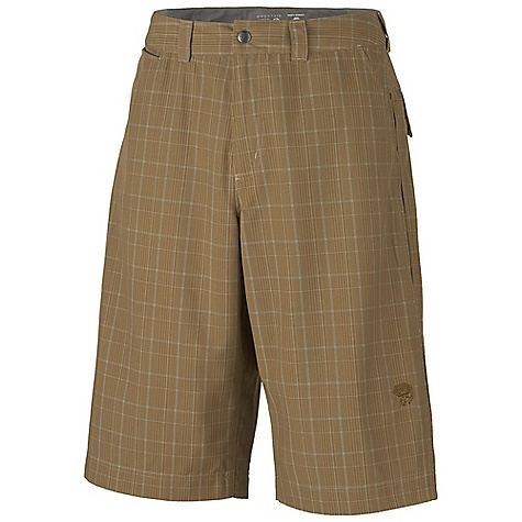 Free Shipping. Mountain Hardwear Men's Trotter Trunk DECENT FEATURES of the Mountain Hardwear Men's Trotter Trunk Micro-Chamois-lined waist for comfort Lots of pockets for storage Inseam gusset for mobility DWR finish repels water UPF 30 sun protection Imported The SPECS Apparel Fit: Semi-Fitted Average Weight: 13.4 oz / 380 g Inseam Length: 14in. / 36 cm Body: Trotter Plaid (97% polyester,3% rayon) - $67.95