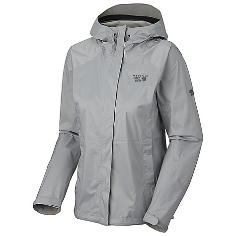 Free Shipping. Mountain Hardwear Women's Epic Jacket DECENT FEATURES of the Mountain Hardwear Women's Epic Jacket Attached, rollaway hood with extra-beefy brim for added protection against the elements Pit zips and mesh front pockets for ventilation Micro-Chamois-lined chin guard eliminates zipper chafe Dual hem drawcords for quick fit adjustments Adjustable Velcro cuffs for quick fit adjustments Imported The SPECS Average Weight: 12 oz / 348 g Center Back Length: 26.5in. / 67 cm Waterproofness: 10,000 mm Breathability / MVTR: 10,000 g/m^2 Laminate: Dry.Q Core Body: Ark Ripstop 50D 2.5L (100% nylon) - $99.95