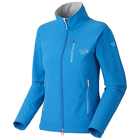 Free Shipping. Mountain Hardwear Women's Onata Jacket DECENT FEATURES of the Mountain Hardwear Women's Onata Jacket Air-permeable stretch fabric with high abrasion resistance DWR finish sheds moisture Curved drop hem for back coverage The SPECS Average Weight: 12 oz / 347 g Center Back Length: 26.5in. / 67 cm Body: Chockstone doubleweave Soft-shell (91% nylon, 9% elastane) - $109.95