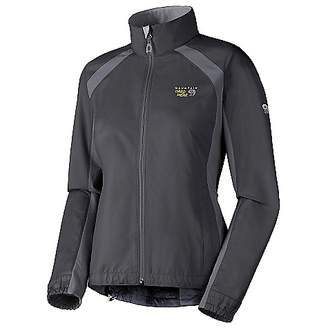 On Sale. Free Shipping. Mountain Hardwear Women's Telesto Jacket DECENT FEATURES of the Mountain Hardwear Women's Telesto Jacket Body fabric is lightweight, wind resistant and quick drying Panels are lightweight, stretchy and quick drying Full front zipper with chin guard for comfort Zippered hand pockets Imported The SPECS Average Weight: 10.1 oz / 286 g Center Back Length: 26in. / 66 cm Body: Antlia micro fiber (100% polyester) Panel: Chock stone Double weave (91% nylon, 9% elastane) - $82.99