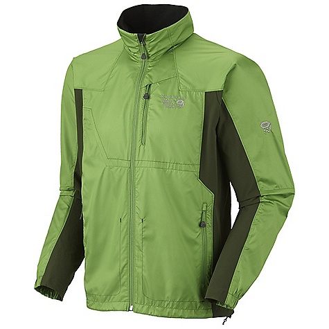 On Sale. Free Shipping. Mountain Hardwear Men's Telesto Jacket DECENT FEATURES of the Mountain Hardwear Men's Telesto Jacket Body fabric is lightweight, wind resistant and quick drying Panels are lightweight, stretchy and quick drying Full front zipper with chin guard for comfort Zippered hand pockets Imported The SPECS Average Weight: 10 oz / 284 g Center Back Length: 27.5in. / 70 cm Body: Antlia microfiber (100% polyester) Panel: Chock stone Double weave (91% nylon, 9% elastane) - $58.99