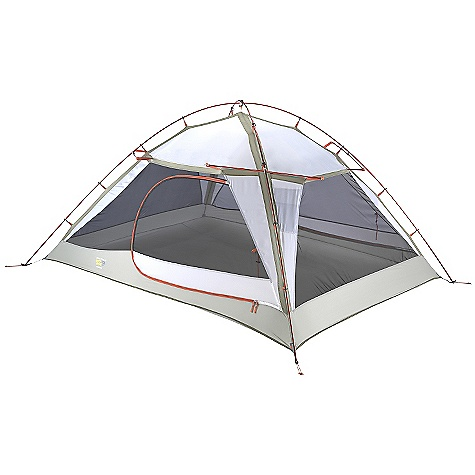 Camp and Hike On Sale. Free Shipping. Mountain Hardwear Corners 3 Tent DECENT FEATURES of the Mountain Hardwear Corners 3 Tent Vents positioned on all four sides of the fly keep the interior cool Unique pole structure with 4 hubs at corners maximizes interior volume and makes set up extremely easy Vestibule design creates a dry storage area and prevents water from reaching the tent floor Proprietary Evolution Tension Arch stabilizes tent Reflective starter point and guy-out loops for easy set-up at night Clear SVX window is UV-resistant, providing a view and extra light in.Pitch Light configuration allows user to set up a superlight shelter using only the tent fly, poles and footprint (sold separately)in. Imported The SPECS Capacity: 3 Person Pitch Type: Freestanding Minimum Weight: 7 lbs 5 oz / 3.30 kg Floor Area: 37 square feet / 3.4 square meter Canopy: 68D Polyester Ripstop DWR (100% polyester)/20D Nylon Knit Mesh (100% nylon) Fly: 75D Polyester Taffeta 1500mm PU Floor: 70D Nylon Taffeta 3000mm PU Poles: 7001 PF Packed Weight: 7 lbs 8 oz / 3.38 kg Vestibule Area: 17+17 square feet / 1.6+1.6 square meter Interior Peak: 51in. / 130 cm Number of Pole: 2 Doors: 2 Vestibules: 2 Packed Size: 8 x 22in. / 20 x 56 cm Reinforcement: 68D Polyester Ripstop, 2x callendared, DWR, FR - $239.99