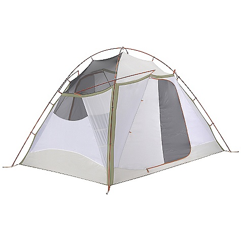 Camp and Hike On Sale. Free Shipping. Mountain Hardwear Corners 6 Tent DECENT FEATURES of the Mountain Hardwear Corners 6 Tent Vents positioned on all four sides of the fly keep the interior cool Unique pole structure with 4 hubs at corners maximizes interior volume and makes set up extremely easy Vestibule design creates a dry storage area and prevents water from reaching the tent floor Proprietary Evolution Tension Arch stabilizes tent Reflective starter point and guy-out loops for easy set-up at night Clear SVX window is UV-resistant, providing a view and extra light in.Pitch Light configuration allows user to set up a superlight shelter using only the tent fly, poles and footprint (sold separately)in. Imported The SPECS Capacity: 6 Person Pitch Type: Freestanding Minimum Weight: 19 lbs / 8.60 kg Floor Area: 83 square feet / 7.7 square meter Canopy: 68D Polyester Ripstop DWR (100% polyester)/20D Nylon knit Mesh (100% Nylon) Fly: 75D Polyester Taffeta 1500mm PU Floor: 150D Polyester oxford 3000mm PU, DWR , FR Poles: 6061 PF Packed Weight: 20 lbs 5 oz / 9.20 kg Vestibule Area: 34+16 square feet / 3.1+1.5 square meter Interior Peak: 87in. / 221 cm Number of Pole: 2 Doors: 2 Vestibules: 2 Packed Size: 14 x 34in. / 36 x 86 cm Reinforcement: 75D Polyester Taffeta 1500mm PU - $399.99