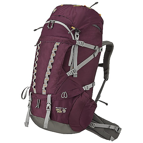 Camp and Hike Free Shipping. Mountain Hardwear Women's Lomasi 60 Backpack DECENT FEATURES of the Mountain Hardwear Women's Lomasi 60 Backpack Intention II suspension uses advanced, lightweight materials to provide highly effective load transfer and outstanding comfort Customizable suspension offers 2.5in. (6.5 cm) of torso adjustment and fully interchangeable women's-specific shoulder straps and hipbelt for optimal fit Exclusive BigMouth lower compartment zip design provides both a wide-mouth opening and load compression Inverted U-shaped, urethane coated, water-resistant zipper on upper front panel offers direct access to needed items in the main compartment Pleated front compression pocket with zippered compartment provides convenient storage for overloads and frequently needed items Skirt extension adds 375 cubic inch / 6 liter of carrying capacity when needed FlapTop design allows pack to be used without the top lid with no compromise in compression or weather-protection Floating top lid with bungee web is removable to reduce weight Large side pockets are easy to reach when wearing the pack Externally accessed hydration sleeve is easier to reload Removable divider separates upper and lower compartments Sleeping pad straps are stowable to reduce clutter when not needed Imported The SPECS Load Range: 40-65 lbs / 18-30 kg Body: 420D HD Nylon Accent: 210D HexNut Ripstop Nylon Bottom: 840D HT Ballistic Nylon The SPECS for Small Weight: 4 lbs 9 oz / 2.08 kg Capacity: 3500 cubic inches / 57 liter Torso Range: 14.0in. - 16.5in. / 36 - 42 cm Waistbelt Size: 26-30in. / 66-76 cm The SPECS for Medium Weight: 4 lbs 12 oz / 2.15 kg Capacity: 3650 cubic inches / 60 liter Torso Range: 16.0in. - 19.0in. / 41 - 48 cm Waistbelt Size: 29-34in. / 74-86 cm Dimention: 30 x 14 x 14in. / 76 x 36 x 36 cm - $289.95