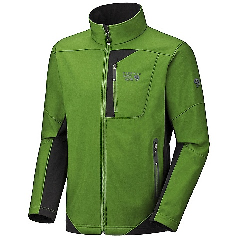 On Sale. Free Shipping. Mountain Hardwear Men's Brono Jacket DECENT FEATURES of the Mountain Hardwear Men's Brono Jacket Zip handwarmer pockets Dual hem drawcords for quick fit adjustments Soft, in.Butter Jerseyin. cuffs Micro-Chamois-lined chin guard eliminates zipper chafe The SPECS Average Weight: 1 lb 3 oz / 545 g Center Back Length: 28in. / 71 cm Fabric: Body: Rebar Ripstop Softshell (69% polyester, 31% nylon), Panel: TufStretch Thermal (58% nylon, 31% polyester, 11% elastane) - $129.99