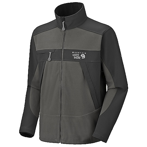 The Mountain Hardwear Men's Mountain Tech Jacket is a fleece jacket with Softshell reinforcements for windy backpacking adventures. The Mountain Tech is a durable jacket for battling your way through the Woods and mountains, built from a combination of AirShield fleece and Deflection soft shell. The polyester fabrics block wind and resist a light rain while allowing for enough breathability so you don't overheat as you work up a sweat hiking from camp to camp. The jacket even has pit zips for extra venting straight to your sweaty armpits. The High front pockets steer clear of your pack straps while still allowing you to utilize them for map and compass. The horizontal chest pocket secures smaller Items like a snack bar or lip balm, which won't fall out when you forget to zip it shut. All bets Are off if you're hanging upside down though. Features of the Mountain Hardwear Men's Mountain Tech Jacket Combination of AirShield Elite fleece and Deflection Softshell for wind protection and breathability Zip handwarmer pockets Dual hem drawcords for quick Fit adjustments Pit zips for ventilation - $97.99