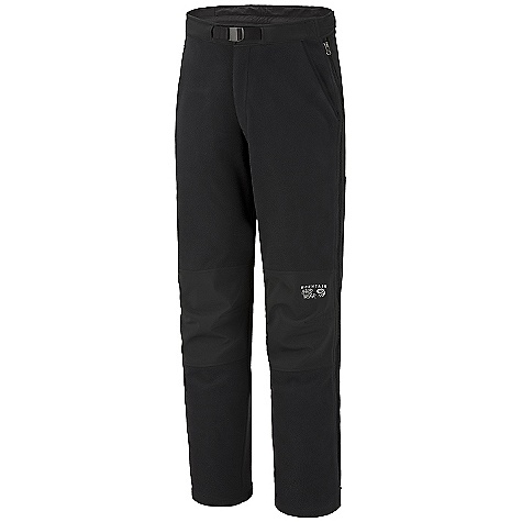On Sale. Free Shipping. Mountain Hardwear Men's Mountain Tech Pant DECENT FEATURES of the Mountain Hardwear Men's Mountain Tech Pant New fabric Combination of AirShield Fleece and Deflection Softshell for wind protection and breathability Adjustable waist Full side zip legs Hand pockets Articulated knees The SPECS Average Weight: 1 lb 7 oz / 653 g Inseam: 32in. / 81 cm Fabric: Body: AirShield Fleece (100% polyester), Panel: Deflection Soft Shell (100% polyester) - $126.99