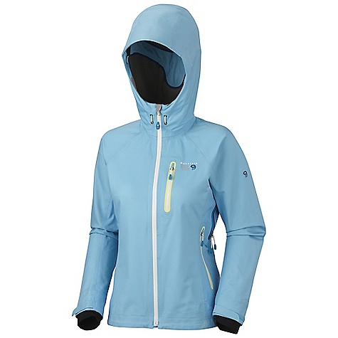 Features of the Mountain Hardwear Women's Zahra Jacket Total waterproof protection Chest-High pockets accommodate a harness or pack Helmet-compatible hood with single-pull adjustment system and extra beefy brim Watertight zips seal out moisture Soft, in. Butter Jerseyin. cuffs - $257.99