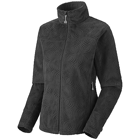 On Sale. Free Shipping. Mountain Hardwear Women's Sable Jacket DECENT FEATURES of the Mountain Hardwear Women's Sable Jacket New fabric and design Soft, warm AirShield fleece is totally windproof All-over embossed pattern Zip handwarmer pockets Dual hem drawcords for quick fit adjustments Micro-Chamois-lined chin guard The SPECS Average Weight: 1 lb 6 oz / 634 g Center Back Length: 26in. / 66 cm Fabric: Body: Spiro Velboa (100% polyester) - $86.99