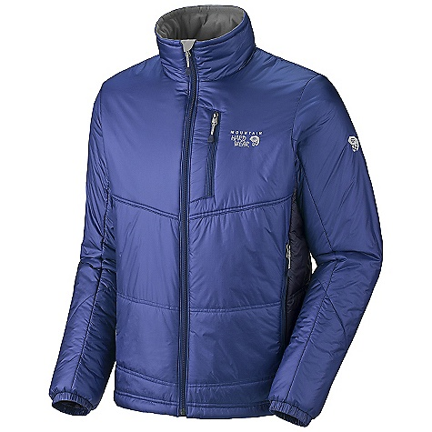 On Sale. Free Shipping. Mountain Hardwear Men's Compressor Jacket DECENT FEATURES of the Mountain Hardwear Men's Compressor Jacket Fleece-lined handwarmer pockets One-handed neck and hem drawcords seal in warmth Interior zip pocket stores ID, keys, other small essentials Micro-Chamois-lined chin guard prevents zipper chafe The SPECS Average Weight: 14 oz / 397 g Center Back Length: 29in. / 74 cm Body: 20D Nylon Ripstop (100% nylon) Insulation: 120g Thermal.Q - $158.99