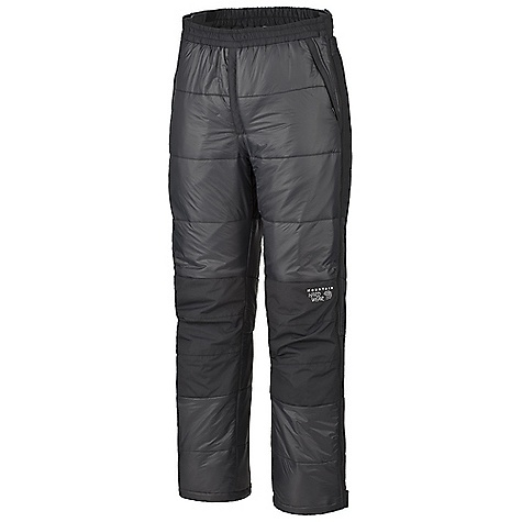 Free Shipping. Mountain Hardwear Men's Compressor Pant DECENT FEATURES of the Mountain Hardwear Men's Compressor Pant New fabric Adjustable elastic waist Reinforced seat and knees protect against abrasion Full side zip legs for ventilation and quick changes The SPECS Apparel Fit: Standard Average Weight: 1 lb 5 oz / 592 g Inseam: 32in. / 81 cm Body: 20d nylon ripstop (100% nylon) Panel: Nutshell taslan (100% nylon) Insulation: Thermic Micro - $174.95