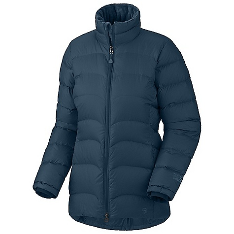 On Sale. Free Shipping. Mountain Hardwear Women's Downtown Parka DECENT FEATURES of the Mountain Hardwear Women's Downtown Parka Insulated with lofty and warm 650-Fill goose down High-pile Velboa Raschel fleece lining for exceptionally soft warmth Two front fleece-lined hand warmer pockets Interior zip pocket stores ID, keys, other small essentials Micro-Chamois -lined chin guard prevents zipper chafe The SPECS Average Weight: 1 lb 5 oz / 608 g Center Back Length: 32in. / 81 cm Body: Hi-Five 30D Rip (100% nylon) Insulation: 650-Fill Goose Down - $119.99