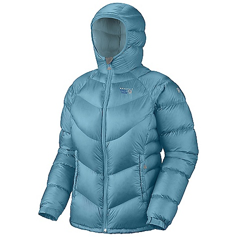 On Sale. Free Shipping. Mountain Hardwear Women's Kelvinator Jacket DECENT FEATURES of the Mountain Hardwear Women's Kelvinator Jacket Two front hand warmer pockets Dual hem drawcords seal in warmth Full elastic cuffs slide easily over layers to seal in warmth Low profile, insulated hood Micro-Chamois-lined chin guard prevents zipper chafe The SPECS Average Weight: 15.7 oz / 446 g Center Back Length: 27in. / 69 cm Body: 20D nylon Rip (100% nylon) Insulation: 650-Fill Goose Down - $157.99