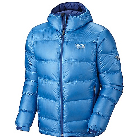 On Sale. Free Shipping. Mountain Hardwear Men's Kelvinator Jacket DECENT FEATURES of the Mountain Hardwear Men's Kelvinator Jacket Two front handwarmer pockets Q.Shield Down water resistant 800-fill down Dual hem drawcords seal in warmth Full elastic cuffs slide easily over layers to seal in warmth Micro-Chamois-lined chin guard prevents zipper chafe The SPECS Average Weight: 15 oz / 434 g Center Back Length: 29in. / 74 cm Body: 20D Nylon Ripstop (100% nylon) Insulation: Q.Shield Down 800-fill down - $171.99