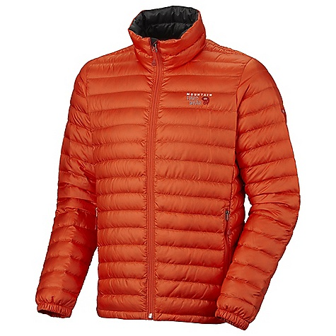 Free Shipping. Mountain Hardwear Men's Nitrous Jacket DECENT FEATURES of the Mountain Hardwear Men's Nitrous Jacket Quilted construction holds insulation in place Two front hand warmer pockets Dual hem draw cords seal in warmth Full elastic cuffs slide easily over layers to seal in warmth Micro-Chamois-lined chin guard prevents zipper chafe DWR finish repels water The SPECS Average Weight: 11 oz / 312 g Center Back Length: 27in. / 69 cm Body: 30D Ripstop (100% polyester) Insulation: Piumino 800-Fill goose Down - $229.95