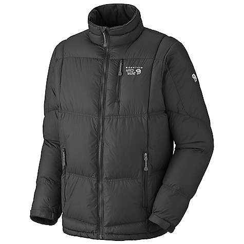Free Shipping. Mountain Hardwear Men's Lodown Jacket DECENT FEATURES of the Mountain Hardwear Men's Lodown Jacket New design Insulated with lofty and warm 650-Fill goose down Zip hand warmer pockets Dual hem drawcords seal in warmth Micro-Chamois-lined chin guard prevents zipper chafe The SPECS Weight: 15 oz / 425 g Center Back Length: 29in. / 74 cm Body: 30D Micro Taffeta (100% nylon) Insulation: 650-Fill Goose Down - $179.95