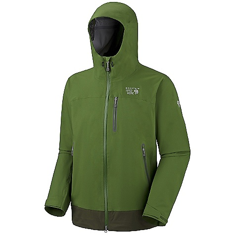 Free Shipping. Mountain Hardwear Men's Flexium Jacket DECENT FEATURES of the Mountain Hardwear Men's Flexium Jacket Fully adjustable, attached hood Water-resistant zips throughout Adjustable cuff and hem Zip handwarmer pockets Interior zip pocket for keys, ID, other small items Micro-Chamois-lined chin guard eliminates zipper chafe The SPECS Average Weight: 1 lb 4 oz / 579 g Center Back Length: 31in. / 79 cm Fabric: Body: Stretch Twill AXF (100% nylon) - $324.95