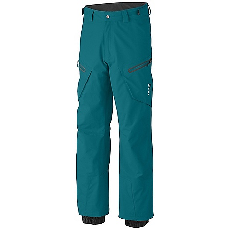 Free Shipping. Mountain Hardwear Men's Snowpocalypse Pant DECENT FEATURES of the Mountain Hardwear Men's Snowpocalypse Pant Micro-Chamois-lined adjustable waist for a customized fit Zippered thigh vents for ventilation Zippered thigh pockets Internal powder cuffs seal out snow Ambush edge guards at inside lower leg The SPECS Average Weight: 1 lb 3 oz / 542 g Inseam: 30, 32, 34in. / 76, 81, 86 cm Body: 3L Dobby (100% nylon) - $349.95