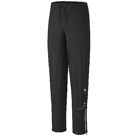On Sale. Free Shipping. Mountain Hardwear Men's Butter Warm Himup Pant DECENT FEATURES of the Mountain Hardwear Men's Butter Warm Himup Pant Wicking, fast drying, stretch fabric Low-profile, stretch waistband for comfort Soft drawcord at waist for easy fit adjustments Hidden back pocket stashes keys, ID, and other small essentials Gusseted inseam for movement Two front zip handwarmer pockets Deep zipper at side hem for a close fit Reflective patches for safety Flat-lock seam construction eliminates chafe UPF 50 sun protection The SPECS Average Weight: 12 oz / 330 g Inseam: 31.5in. / 80 cm Fabric: Body: Better Butter Jersey (89% polyester, 11% elastane) - $43.99