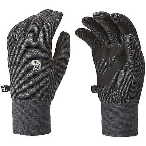 Mountain Hardwear Heavyweight Wool Stretch Glove DECENT FEATURES of the Mountain Hardwear Heavyweight Wool Stretch Glove Snug-fitting, Wool/Poly stretch fabric keeps hands warm when it's wet and cold Flat-lock construction for a seamless fit Welded palm and finger patches add wear resistance and enhance grip Wear alone or use as a liner The SPECS Average Weight: 2.2 oz / 61 g Body: Heavyweight Wool Stretch (30% wool, 30% polyester, 28% nylon, 12% elastane) Palm: Welded polyurethane - $34.95