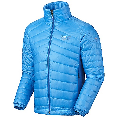 Free Shipping. Mountain Hardwear Men's Zonal Jacket DECENT FEATURES of the Mountain Hardwear Men's Zonal Jacket Micro Climate Zoning construction for built-in wind protection, warmth, breathability and stretch Lightly insulated body panels and sleeves for just the right amount of warmth Techno stretch side panels for stretch and breathability Dual hem draw cords for quick fit adjustments Micro-Chamois-lined chin guard prevents zipper chafe Zip handwarmer pockets The SPECS Average Weight: 13 oz / 369 g Center Back Length: 27in. / 69 cm Body: 20D Ripstop (100% polyester) Panel: Techno stretch (93% polyester, 7% elastane) Insulation: Thermic micro - $189.95