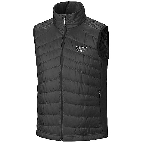 On Sale. Free Shipping. Mountain Hardwear Men's Zonal Vest DECENT FEATURES of the Mountain Hardwear Men's Zonal Vest Micro-Climate Zoning construction for built-in wind protection, warmth, breathability and stretch Lightly insulated body for just the right amount of warmth Techno-stretch side panels for stretch and breathability Zip handwarmer pockets Dual hem drawcords for quick fit adjustments Micro-Chamois-lined chin guard prevents zipper chafe The SPECS Average Weight: 10 oz / 277 g Center Back Length: 27in. / 69 cm Fabric: Body: 20D Ripstop (100% polyester), Panel: Techno-stretch (93% polyester, 7% elastane), Insulation: Thermic Micro - $99.99
