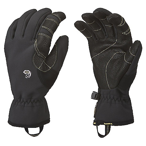 Free Shipping. Mountain Hardwear Women's Torsion Glove DECENT FEATURES of the Mountain Hardwear Women's Torsion Glove Designed to fit a woman's smaller hand proportions Deflection soft shell fabric is windproof and breathable, backed with polyester microfleece Wrap around leather reinforcement at the index finger, for comfort and durability in a high-wear area Nose wipe patch on thumb Pull-on webbing loop at wrist Updated: New index finger pattern for improved comfort Updated: Inseamed palm seams for increased durability The SPECS Average Weight: 2.6 oz / 75 g Body: Deflection Soft Shell (100% polyester) Palm: Water-resistant Goatskin Leather - $54.95
