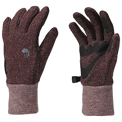 Mountain Hardwear Women's Heavyweight Wool Stretch Glove DECENT FEATURES of the Mountain Hardwear Women's Heavyweight Wool Stretch Glove Snug-fitting, Wool/Poly stretch fabric keeps hands warm when it's wet and cold Designed to fit a woman's smaller hand proportions Flat-lock construction for a seamless fit Welded palm and finger patches add wear resistance and enhance grip Wear alone or use as a liner The SPECS Average Weight: 2 oz / 52 g Body: Heavyweight Wool Stretch (30% wool, 30% polyester, 28% nylon, 12% elastane) - $34.95