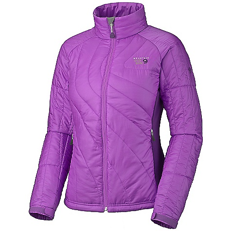 On Sale. Free Shipping. Mountain Hardwear Women's Zonal Jacket DECENT FEATURES of the Mountain Hardwear Women's Zonal Jacket New fabric Micro-Climate Zoning construction for built-in wind protection, warmth, breathability and stretch Lightly insulated body panels and sleeves for just the right amount of warmth Techno stretch side panels for stretch and breathability Dual hem drawcords for quick fit adjustments Micro-Chamois-lined chin guard prevents zipper chafe Zip handwarmer pockets The SPECS Average Weight: 13.1 oz / 370 g Center Back Length: 25in. / 64 cm Body: 20D Ripstop (100% polyester) Panel: Techno stretch (93% polyester, 7% elastane) Insulation: Thermic Micro 100g - $100.99