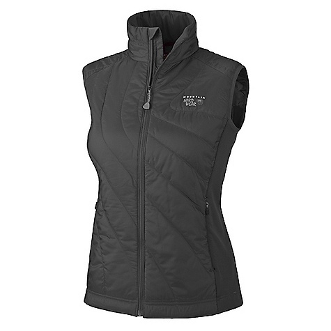 On Sale. Free Shipping. Mountain Hardwear Women's Zonal Vest DECENT FEATURES of the Mountain Hardwear Women's Zonal Vest Micro-Climate Zoning construction for built-in wind protection, warmth, breathability and stretch Lightly insulated body for just the right amount of warmth Techno stretch side panels for stretch and breathability Zip handwarmer pockets Dual hem drawcords for quick fit adjustments Micro-Chamois-lined chin guard prevents zipper chafe The SPECS Average Weight: 9 oz / 258 g Center Back Length: 25in. / 64 cm Fabric: Body: 20D Ripstop (100% polyester), Panel: Techno stretch (93% polyester, 7% elastane), Insulation: Thermic Micro - $111.99