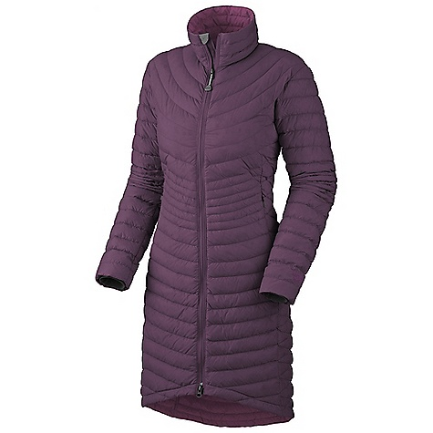 On Sale. Free Shipping. Mountain Hardwear Women's Citilicious Coat DECENT FEATURES of the Mountain Hardwear Women's Citilicious Coat Insulated with lofty and warm 650-Fill goose down Two front fleece-lined hand warmer pockets Fleece-lined chin guard prevents zipper chafe The SPECS Average Weight: 16 oz / 458 g Center Back Length: 40in. / 102 cm Body: 30D Micro Taffeta (100% nylon) Insulation: 650-Fill Goose Down - $148.99
