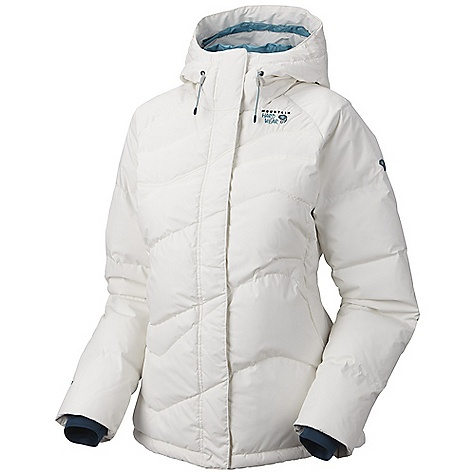 On Sale. Free Shipping. Mountain Hardwear Women's Snowdeo Jacket DECENT FEATURES of the Mountain Hardwear Women's Snowdeo Jacket Attached, insulated hood Attached stretch powder skirt Soft, in.Butter Jerseyin. cuffs One-handed hood and hem drawcords for quick adjustments Zip handwarmer pockets Plenty of interior pockets for all your gear Micro-Chamois-lined chin guard eliminates zipper chafe The SPECS Average Weight: 1 lb 13 oz / 827 g Center Back Length: 28in. / 71 cm Body: 2L Ark (100% nylon) Insulation: 650-Fill Goose Down - $193.99