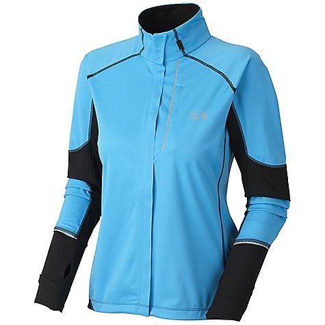 On Sale. Free Shipping. Mountain Hardwear Women's Effusion Power Jacket DECENT FEATURES of the Mountain Hardwear Women's Effusion Power Jacket Face Fabric: Windproof and water resistant Strategically placed knit panels for increased breathability and mobility Water-resistant zippered chest pocket for media player and small items Thumb loops keep hands warm Dual hem drawcords for quick fit adjustments The SPECS Average Weight: 11 oz / 300 g Center Back: 25in. / 64 cm Body: Active Solution 20d 3l Jersey (100% polyester) Panel: Stretch tech terry (65% nylon, 22% polyester, 13% elastane) - $103.99
