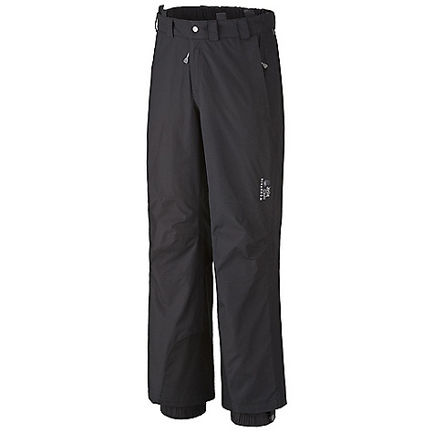 Free Shipping. Mountain Hardwear Men's Hestia Pant DECENT FEATURES of the Mountain Hardwear Men's Hestia Pant Adjustable waist with integrated belt for a custom fit Removable suspenders with drop seat functionality Full length side zippers Abrasion-resistant scuff guard for extra protection Internal snow gaiter The SPECS Average Weight: 1 lb 9 oz / 696 g Inseam: 30, 32, 34in. / 76, 81, 86 cm Body: 2L Dobby (100% nylon) Laminate: Dry.Q Elite - $224.95