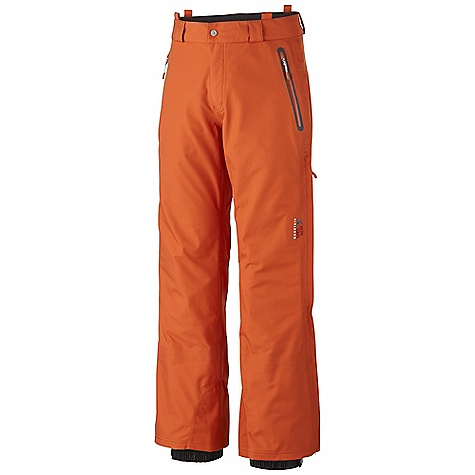On Sale. Free Shipping. Mountain Hardwear Men's Snowtastic Pant DECENT FEATURES of the Mountain Hardwear Men's Snowtastic Pant Micro-Chamois-lined waist with belt loops for a customized fit 3/4-Length leg zips for ventilation and easy on-off Removable suspenders with drop seat functionality Fleece-lined handwarmer pockets Internal powder cuffs seal out snow Ambush edge guards at inside lower leg The SPECS Average Weight: 1 lb 5 oz / 600 g Inseam: 30, 32, 34in. / 76, 81, 86 cm Body: Synchro NBT (56% polyester, 44% nylon) - $259.99