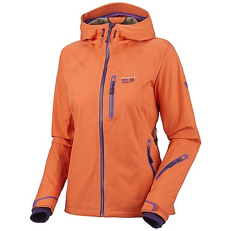 Ski On Sale. Free Shipping. Mountain Hardwear Women's Snowtastic Jacket DECENT FEATURES of the Mountain Hardwear Women's Snowtastic Jacket Totally waterproof, breathable softshell loaded with ski features Attached hood Removable, adjustable, stretch powder skirt Pit zips for additional ventilation One-handed hood and hem drawcords for quick adjustments Zip handwarmer pockets Soft, in.Butter Jerseyin. cuffs Micro-Chamois-lined chin guard eliminates zipper chafe The SPECS Average Weight: 1 lb 10 oz / 732 g Center Back Length: 26.5in. / 67 cm Body: Synchro Softshell (56% polyester, 44% nylon) - $268.99