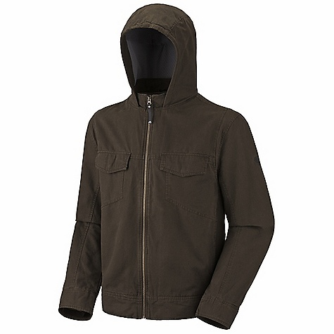 Free Shipping. Mountain Hardwear Men's Cordoba Hooded Jacket DECENT FEATURES of the Mountain Hardwear Men's Cordoba Hooded Jacket Full-coverage hood for cool weather Full front zipper with chin guard for comfort Chest pocket with earpiece cord exit Interior zip pocket for keys, ID, other small items Articulated elbows Two front zip handwarmer pockets Butter Jersey cuffs to keep wrists warm The SPECS Apparel Fit: Semi-Fitted Average Weight: 2 lbs 12 oz / 1.23 g Center Back Length: 27in. / 69 cm Body: Basalting canvas (100% cotton) Lining: Hex Fleece 180 (100% polyester) - $129.95