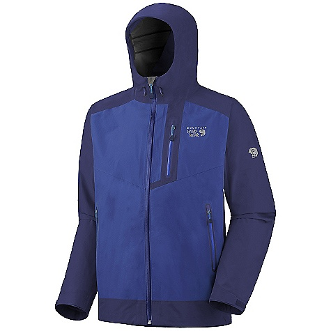 On Sale. Free Shipping. Mountain Hardwear Men's Trice Jacket DECENT FEATURES of the Mountain Hardwear Men's Trice Jacket Water-resistant zips throughout Adjustable cuff and hem Zip handwarmer pockets Interior zip pocket for keys, ID, other small items Micro-Chamois-lined chin guard prevents zipper chafe The SPECS Average Weight: 1 lb 1 oz / 489 g Center Back Length: 31in. / 79 cm Fabric: Body: 70D 3L (100% nylon) - $232.99