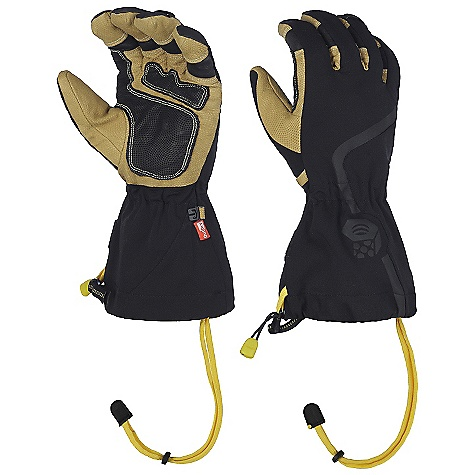 Entertainment Free Shipping. Mountain Hardwear Typhon Glove DECENT FEATURES of the Mountain Hardwear Typhon Glove Removable liner extends utility and comfort range All leather palm is rugged and very dexterous Soft suede thumb patch for wiping wet noses Easy to use single pull / quick release gauntlet adjustment blocks out elements The SPECS Average Weight: 10 oz / 270 g Body: 4-Way Stretch Nylon Softshell (92% nylon, 8% elastane) Laminate: OutDry Waterproof Technology Liner: Plated Wool Poly (50% wool, 28% polyester, 22% nylon) Palm: Water-resistant Goatskin Leather - $139.95