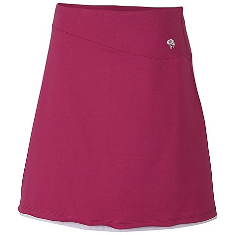 On Sale. Free Shipping. Mountain Hardwear Women's Tonga Skirt DECENT FEATURES of the Mountain Hardwear Women's Tonga Skirt Comfy cottton fabric feels great against body Side zip pocket for valuables Flat-lock seam construction eliminates chafe The SPECS Average Weight: 6 oz / 178 g Outseam: 19in. / 48 cm Body: Side Stripe V6 Jersey (90% cotton, 10% elastane) - $40.99